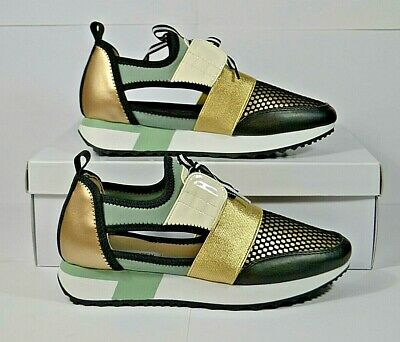 d4e261e668f Nib Womens Steve Madden Arctic Green Mult Mesh Sneakers Shoes Mult Sizes