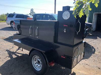 Night Hog Temp Gauges Ribs Barn Door Mobile BBQ Smoker Trailer Food Truck Cater