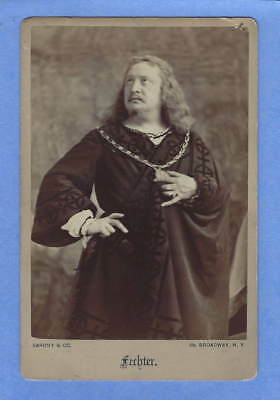 Antique Charles Fechter Actor in Costume Cabinet Card Photo Friend of Dickens