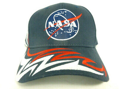 34245dafb0493 Nasa Baseball Hat Kennedy Space Center Red  White Blue Flames American  Needle