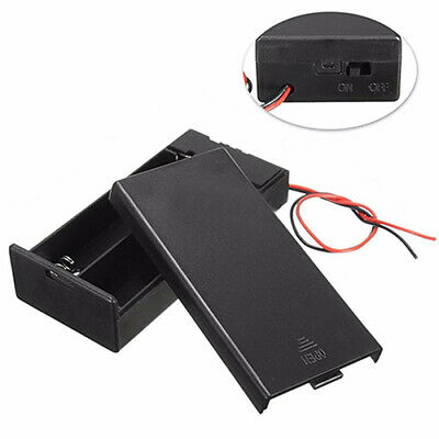 Simple DC Holder Storage Box Case Switch Wire for 3.7V 2 x 18650 Battery Preciou