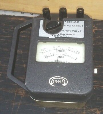 Vintage Biddle Megohmmeter Major Megger Insulation Tester