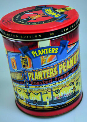 1998 Christmas Limited Edition Mr. Peanut Planters Peanuts 2Nd In Series Tin