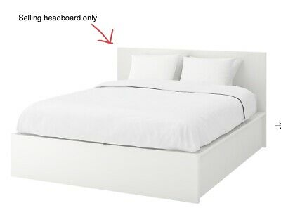Headboard For Ikea Malm Storage Bed, White, Full Size