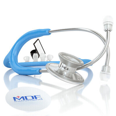 MDF Instruments Acoustica Deluxe Lightweight Dual Head Stethoscope - Bright Blue