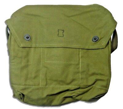 Finnish Army Gas Mask HEAVY DUTY Canvas Hiking WATERPROOF Sling Military Pack