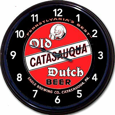 Catasauqua Old Dutch Catasauqua PA Beer Tray Wall Clock Ale Eagle Brew Man Cave
