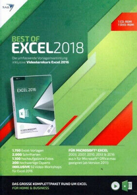 Best of EXCEL 2018 inklusive Videolernkurs Excel 2016 (Software) NEU
