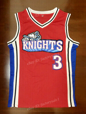 04e6c0274 Calvin Cambridge  3 Movie Knights Basketball Jersey Embroidered Red