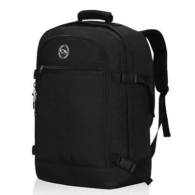 Mens Weekend Luggage Travel Backpack Carry on Black Bags Outdoor Picnic Rucksack