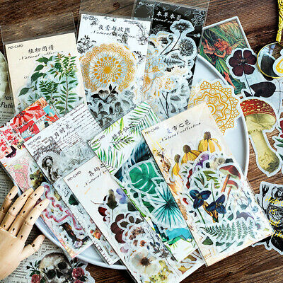 60pcs/lot Cute Plant Journal Stickers DIY Scrapbooking Diary For Photo Album New