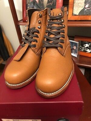 30d9941cccd WOLVERINE 1000 MILE Rockford Centennial Bison Boots English Tan Men 8.5 M
