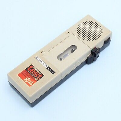 Vintage COMPUR-dict Dictaphone Microcassette Recorder *WORKING*