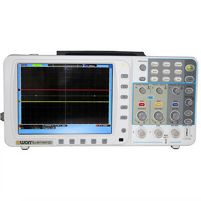 Newest 2013 June low-noise OWON 100Mhz Oscilloscope SDS7102V FFT battery LAN VGA