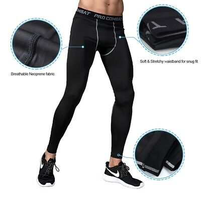 Details about MENS COMPRESSION PANTS Gym Tights Running Cycling Skins X S M L XL 2XL 3XL 4XL