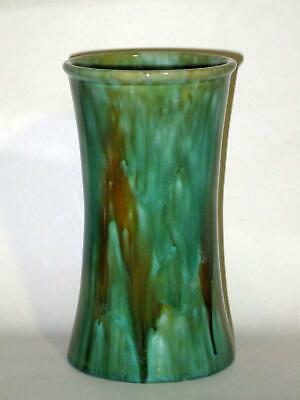 McHugh PotteryTasmania Green & Ochre Vase, Unusual Colourway Shape 3, 22cm, GC