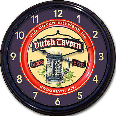 Old Dutch Brewers Beer Brooklyn NY Beer Tray Wall Clock Dutch Tavern Ale 10""