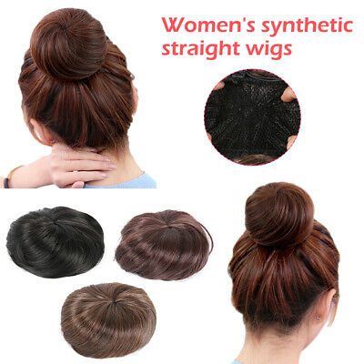 Human Real Natural Curly Messy Bun Hair Piece Scrunchie Hair Extensions