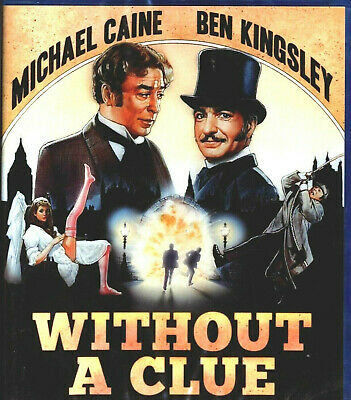 Without a Clue Blu-Ray CAINE KINGSLEY FACTORY SEALED FREE SHIPPING TRACKING US