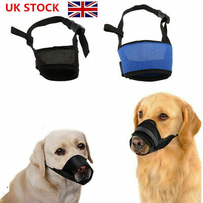 Anti-bite Pet Dog Safety Muzzle Puppy Adjustable Breathable Mesh Mouth Cover