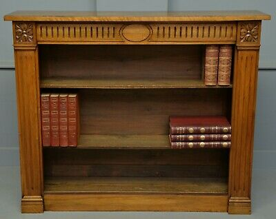 Victorian Walnut Open Adjustable Bookcase
