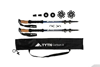 TYTN Carbon X Trekking Poles for Hiking Nordic Walking & Outdoor Pursuits
