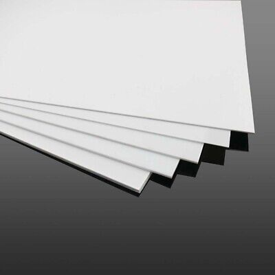 1pcs White ABS Plastic Flat Sheet Plate DIY Building Model Material Multi Sizes