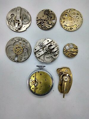 Vintage Swiss and german watch calibers Swiss Pocket watches parts 8 pcs/lot