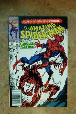 Amazing Spider-Man 361 (MARVEL 1992)  SIGNED BY MARK BAGLEY! FIRST FULL CARNAGE!