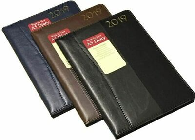 2019 Diary A5 Week To View Premium Padded Embossed & Stitched Office Diary 2104