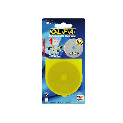 OLFA 60mm Rotary Cutter Replacement Blade (1pk) RB60-1