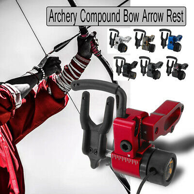 Aluminum Arrow Drop Away Rest Hold With Cord Lock Compound Bow Archery Hunting