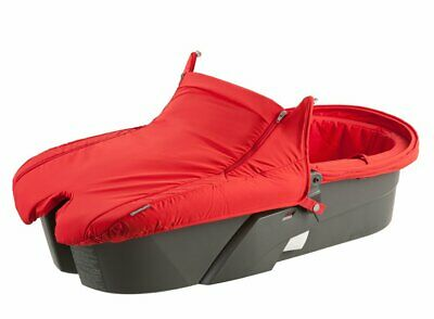 Stokke Xplory Carry Cot - Red Carry Cot and Raincover Only