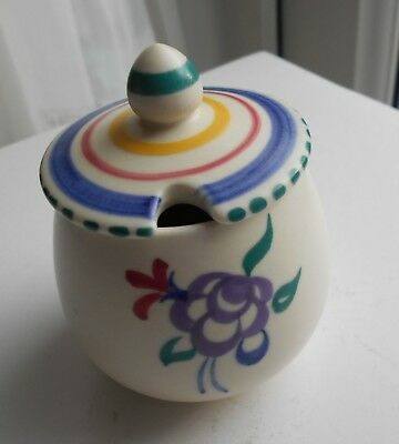 poole pottery small mustard pot + lid condition excellent 1960s