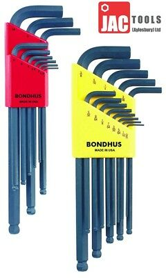 Bondhus Blx22 Ball End Wrench Sets Hex Allen Keys Long Reach Blx9 & Blx13 F&f