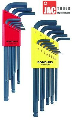 Bondhus Ball End Wrench Set Hex Allen Keys Long Blx9 Blx13 Metric Imperial F&f