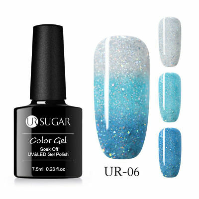 UR SUGAR 7.5ml Thermal Soak Off Gel Polish Color Changing 3 Layers Gel Varnish