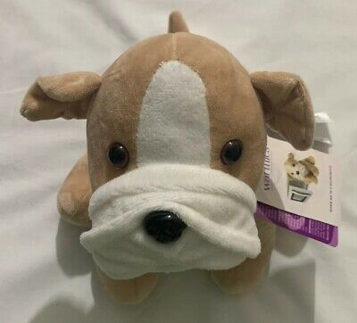 Intelex Bull Dog Warmies Plush New with Tags Lavender Scented Free Priority Ship