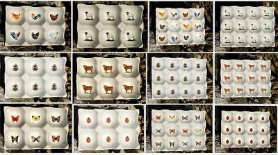 6 & 12 Egg Tray / Holder, Chickens, Cows, Bee's & More Ceramic China