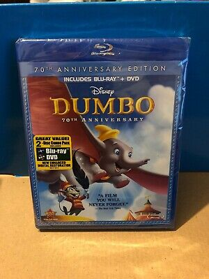Dumbo (Blu-ray/DVD, 2011, 2-Disc Set, 70th Anniversary Edition) Factory Sealed