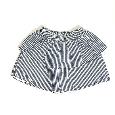 OLD NAVY Toddler Girl 4T Blue White Stripe Tiered Pull On Stretch Waist Skirt