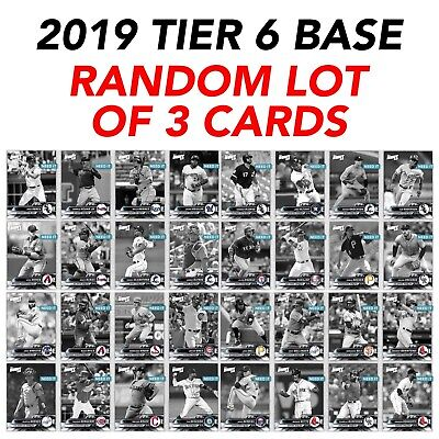 2019 TIER 6 BASE PRIZE WHEEL 2.2x BOOST RANDOM SET OF 3 CARDS Topps Bunt Digital
