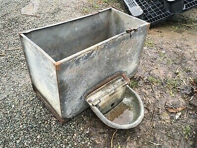 galvanised trough Water Tank With Drinker Garden Planter Metal Dog Sheep Chicken