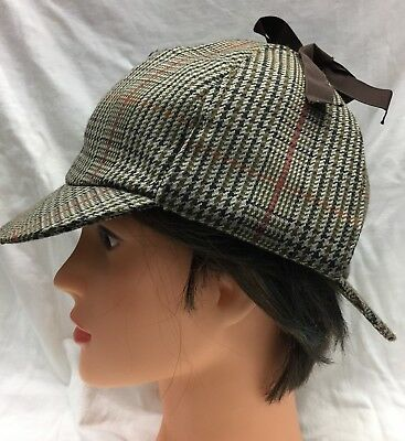 514cc6aae40 Original Barbour Tweed Deerstalker Hat Sherlock Holmes Hat Shooting Various  Size