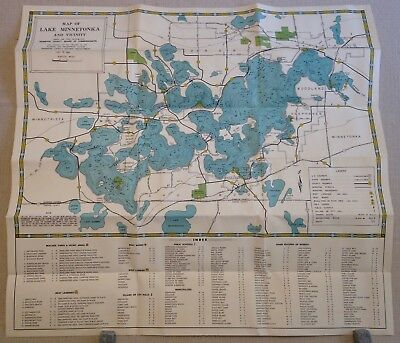 VINTAGE MAP Lake Minnetonka Vicinity Minnesota Reprint d'Havarda inc on