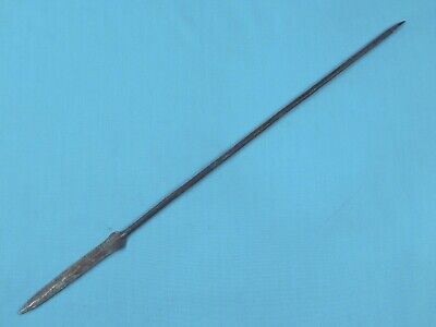 Antique Old Africa African Small Mini Metal Spear *