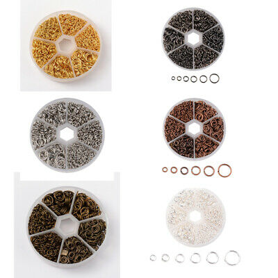 1600Pcs/Box Wholesale Mixed Size Open Jump Rings Connectors DIY Jewelry 4-10mm