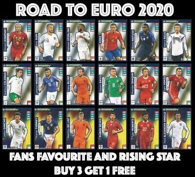Road To Euro 2020 Fans Favourites Rising Stars Panini Adrenalyn Xl