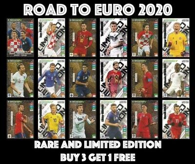 Road To Euro 2020 Rare And Limited Edition Panini Adrenalyn Xl