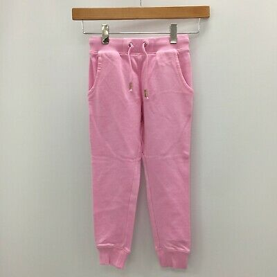 NEW NEXT Kids Pink 100% Cotton Joggers Trousers Size UK Age 3 5 9 Years B029000